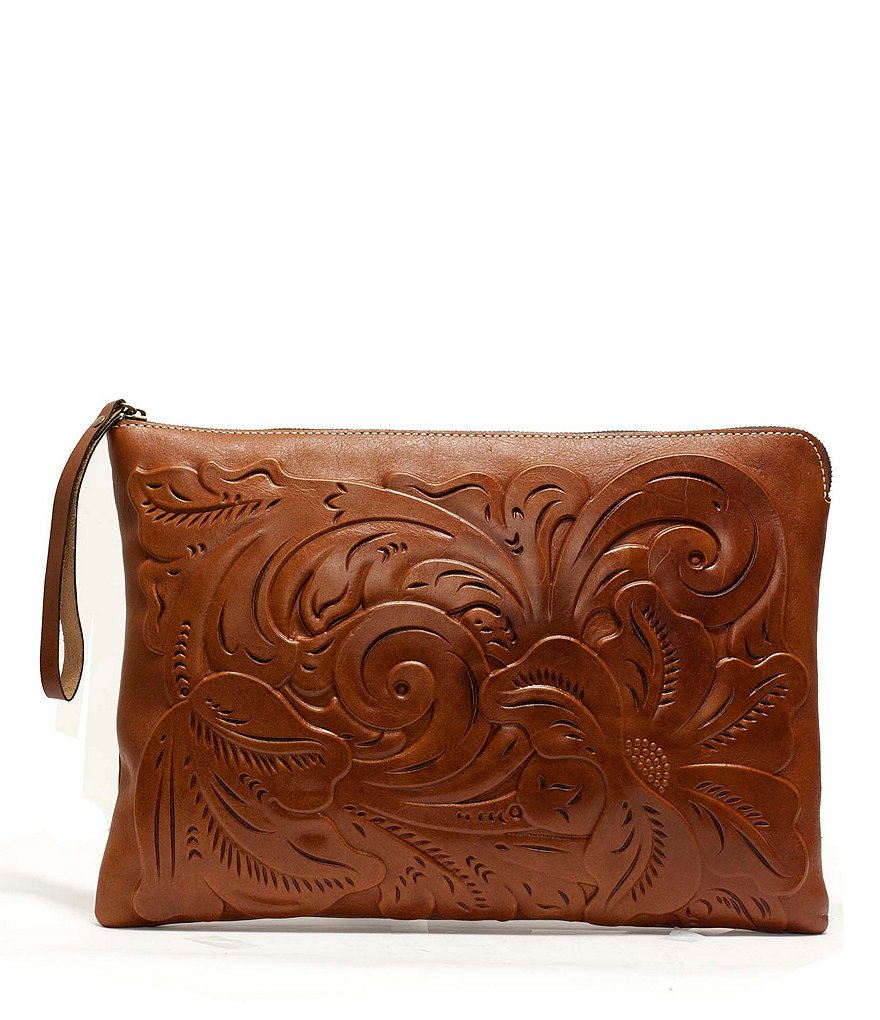Patricia Nash Braga Tooled Portfolio Tech Pouch