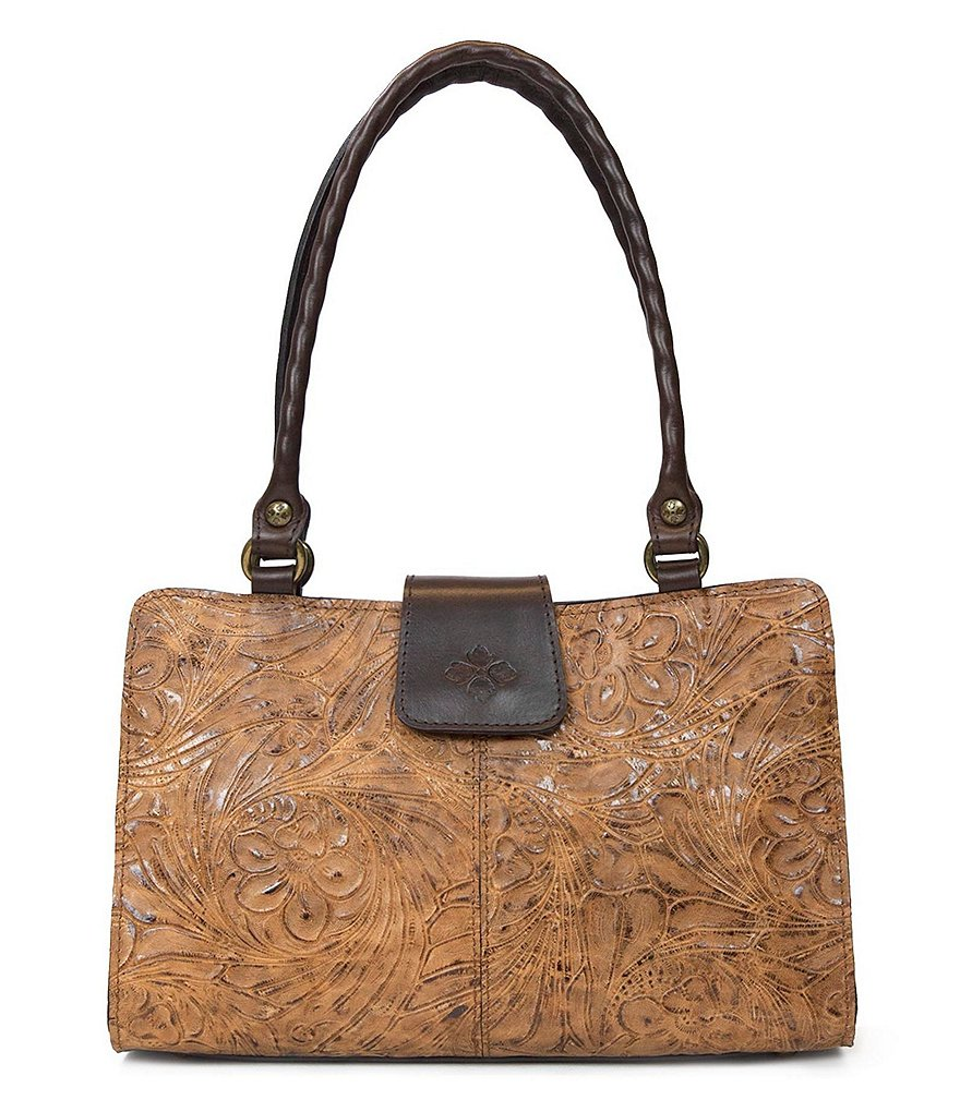 Patricia Nash Glazed Floral Collection Rienzo Satchel