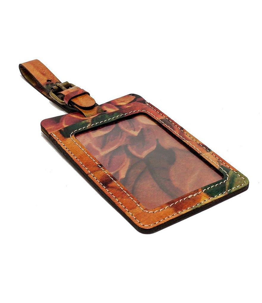 Patricia Nash Leather Luggage Tag