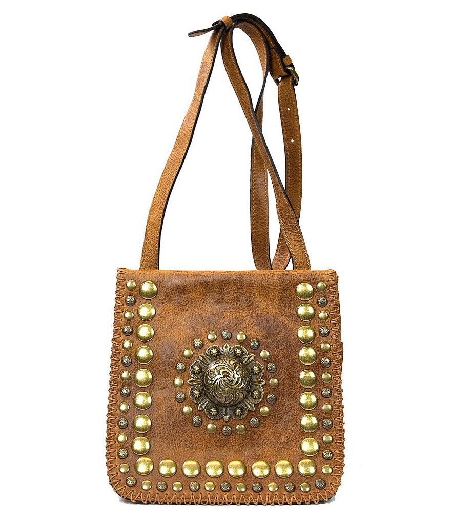 Patricia Nash Medallion Distressed Collection Granada Cross-Body Bag