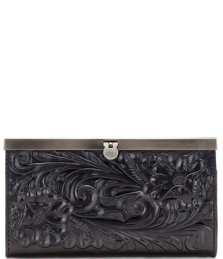 Patricia Nash Tooled Floral Embossed Cauchy Wallet