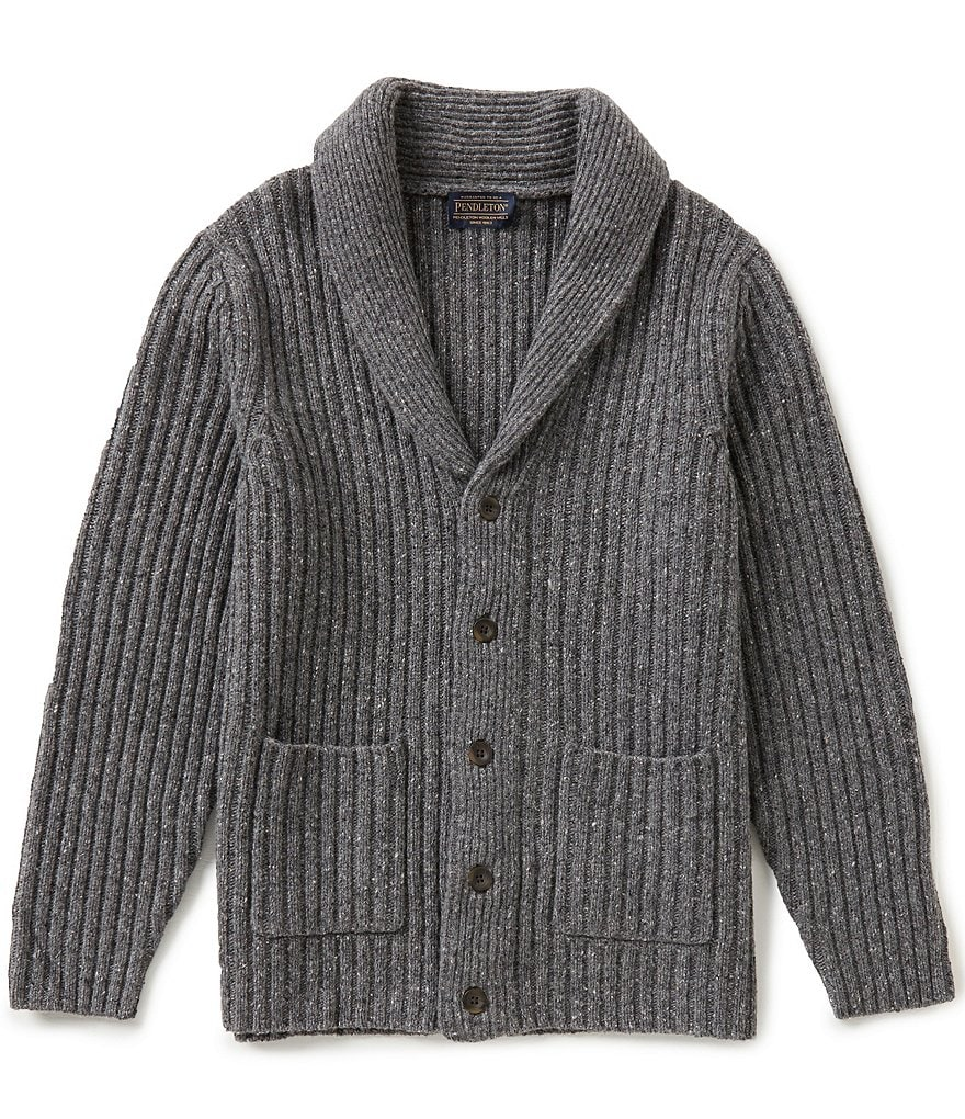 Pendleton Long-Sleeve Donegal Shawl Collar Cardigan