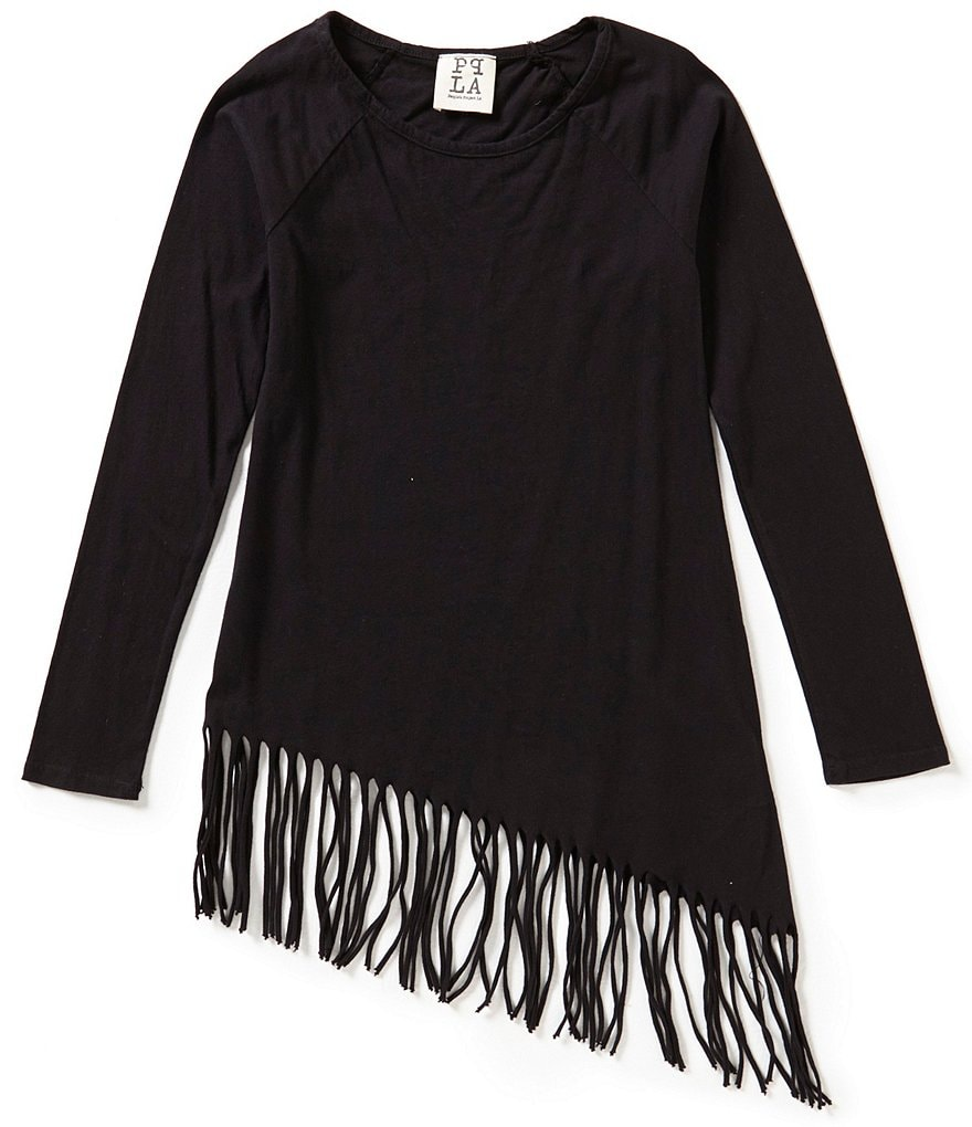 People's Project LA Big Girls 7-16 Ronda Asymmetrical Fringe Top