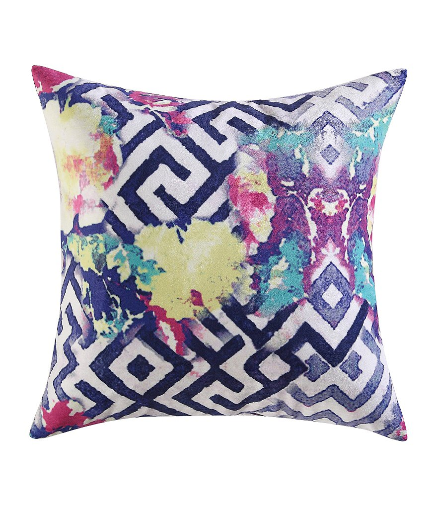 Poetic Wanderlust™ by Tracy Porter Florabella Geometric Floral Feather Pillow