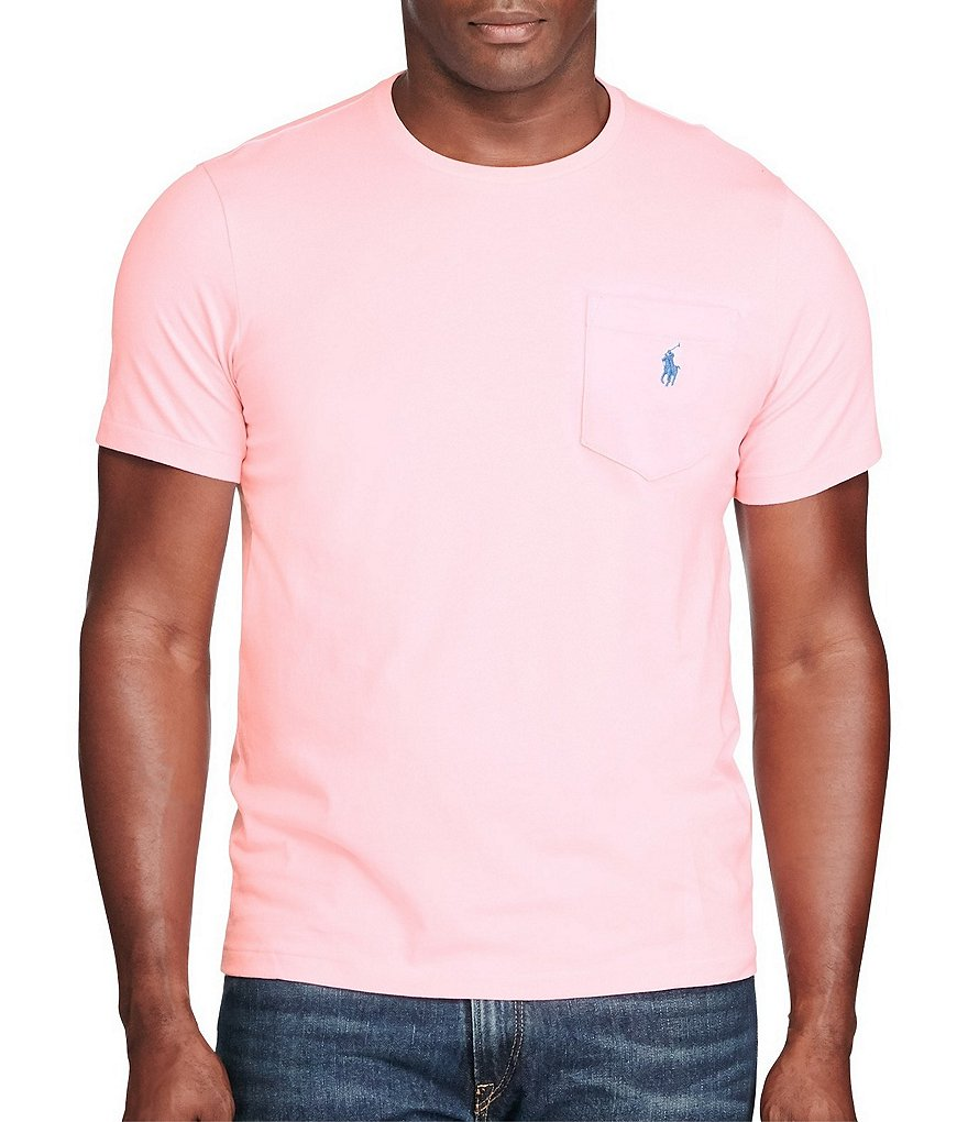 Polo Ralph Lauren Big & Tall Jersey Crew Neck Pocket T-Shirt
