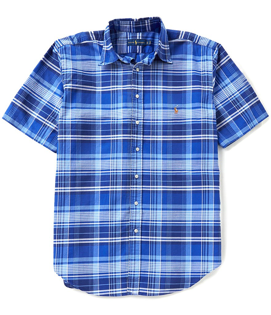 Polo Ralph Lauren Big & Tall Plaid Oxford Short-Sleeve Woven Shirt