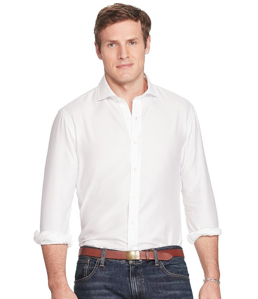 Polo Ralph Lauren Big & Tall Solid Twill Sportshirt