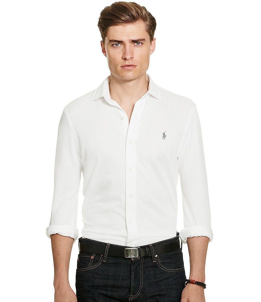 Polo Ralph Lauren Herringbone Knit Dress Shirt