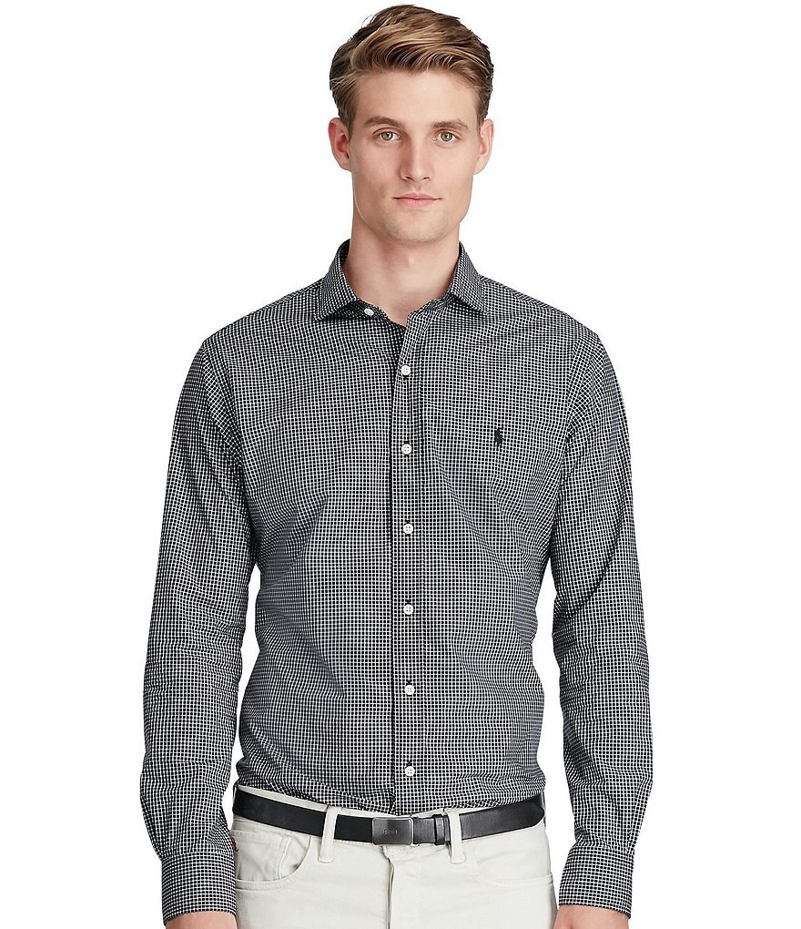 Polo Ralph Lauren Long-Sleeve Checked Poplin Woven Shirt
