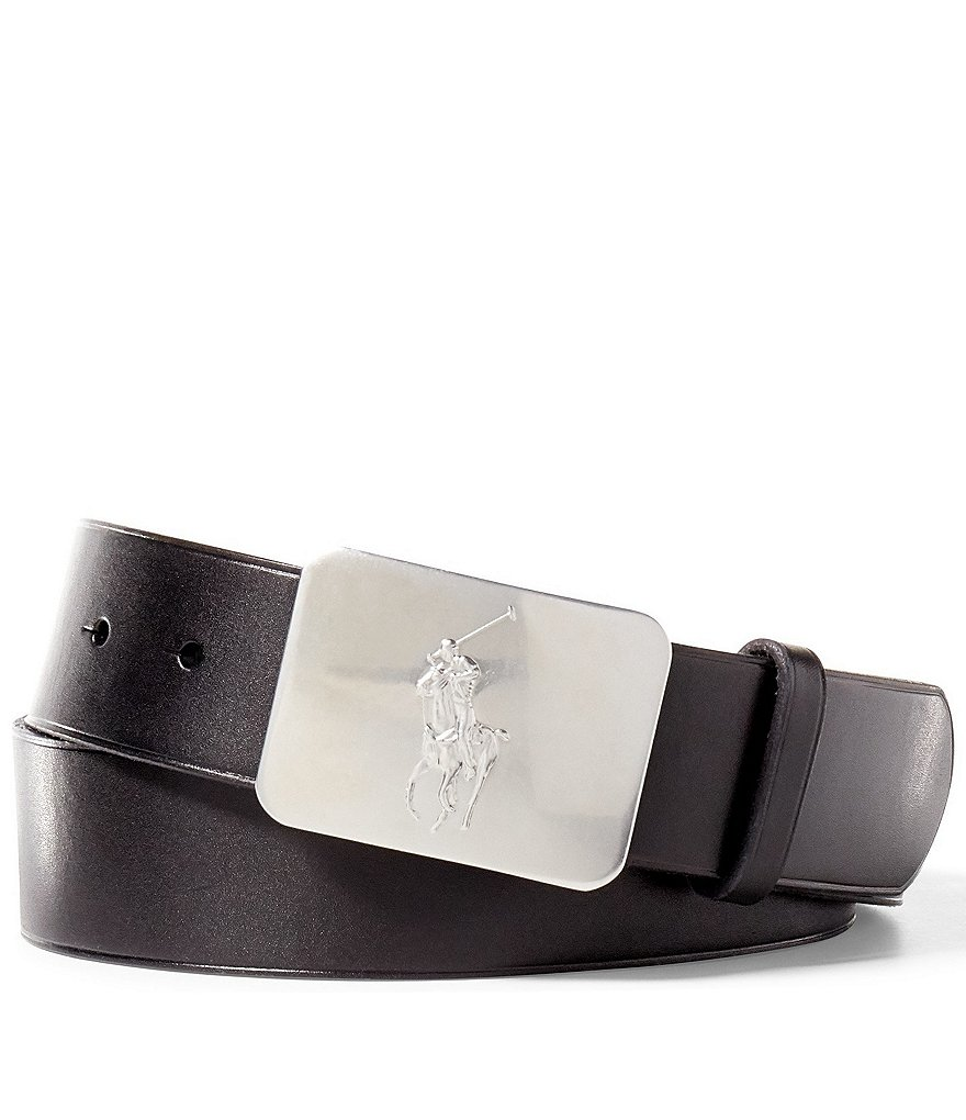 Polo Ralph Lauren Pony Plaque Black Belt