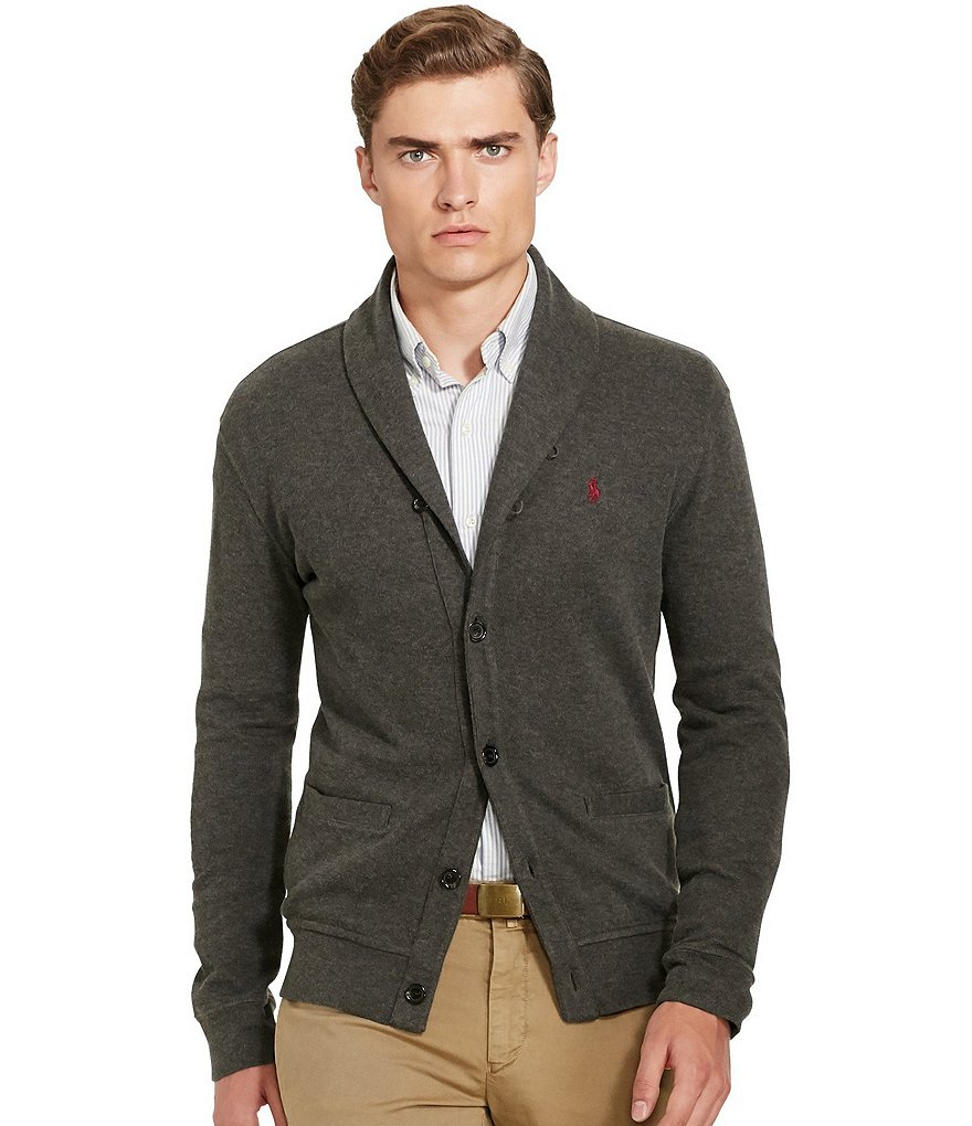 Polo Ralph Lauren Ribbed Cotton Shawl Cardigan
