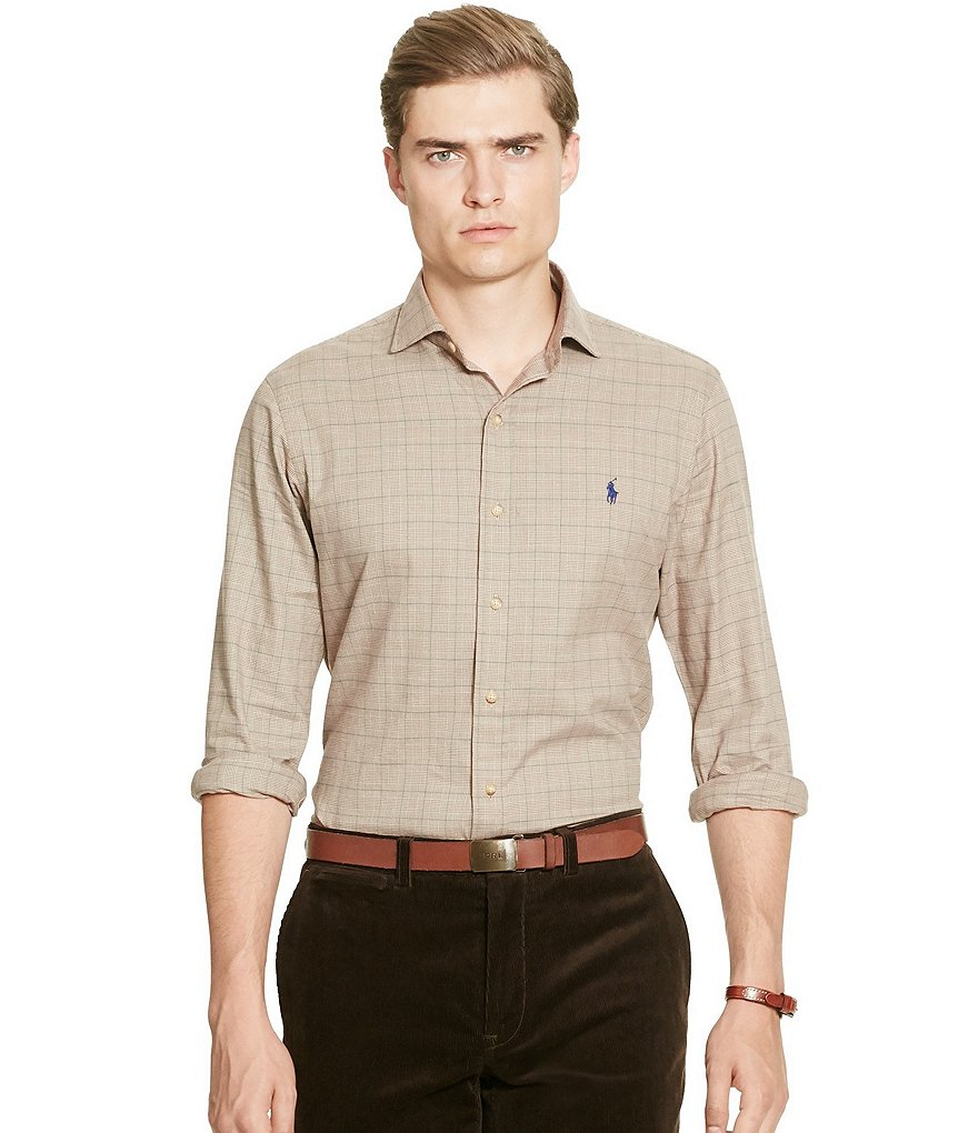 Polo Ralph Lauren Slim Plaid Cotton Twill Shirt