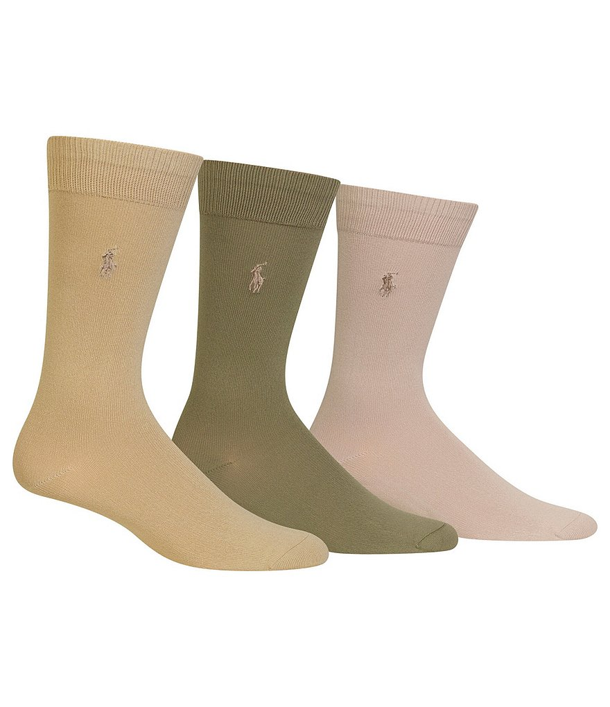 Polo Ralph Lauren Super Soft Dress Socks 3-Pack