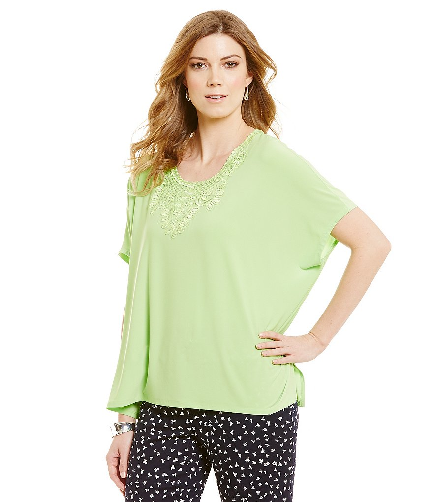 Preston & York Adeline Knit Poncho Top