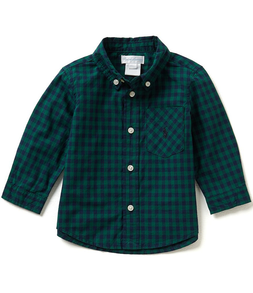 Ralph Lauren Childrenswear Baby Boys 3-24 Months Plaid Long-Sleeve Poplin Shirt