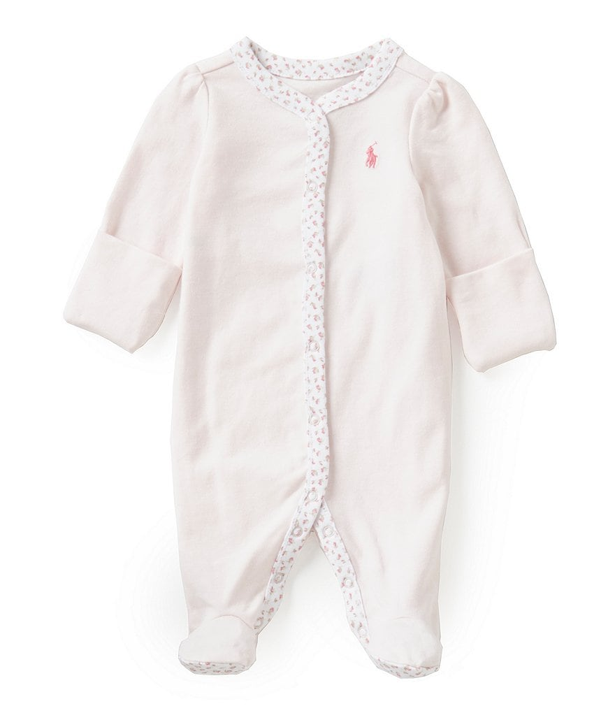Ralph Lauren Childrenswear Baby Girls Newborn-9 Months Floral-Trim Coverall