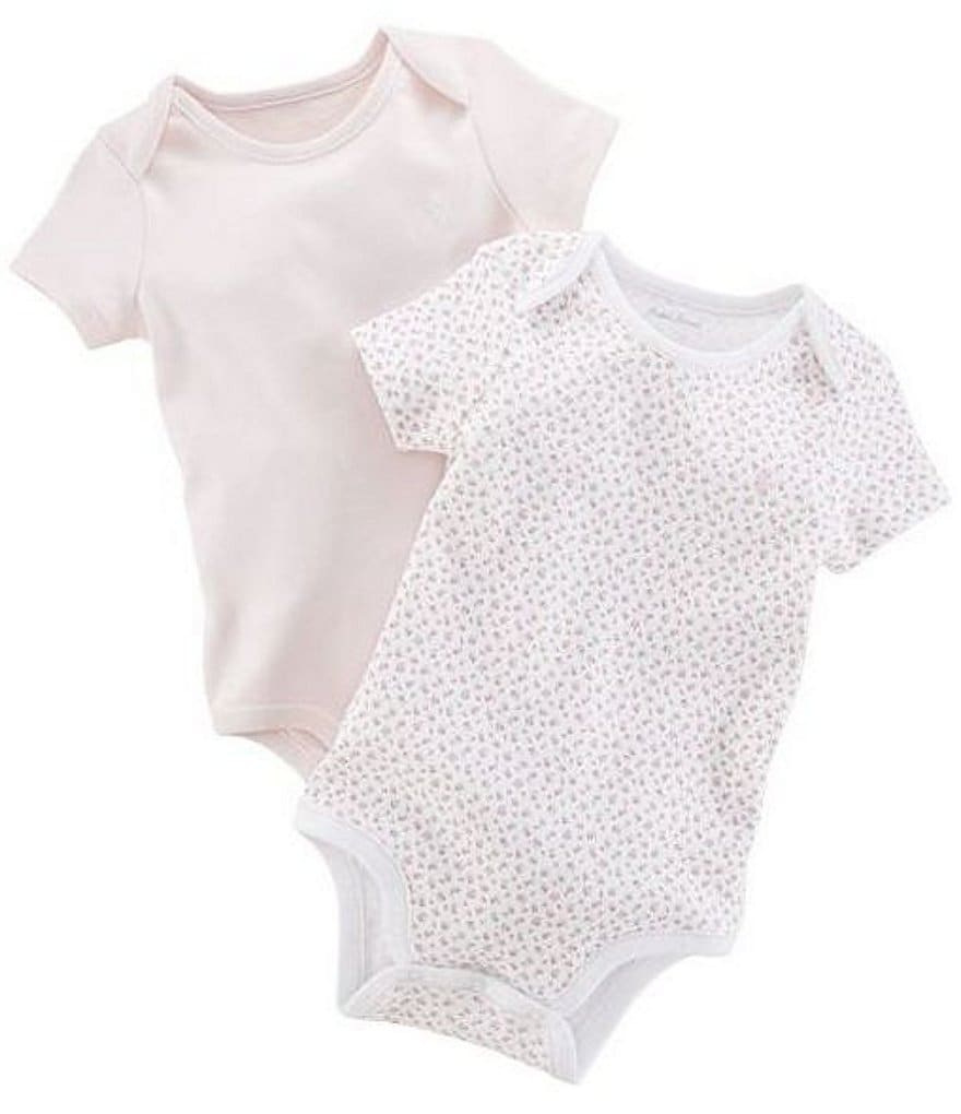 Ralph Lauren Childrenswear Baby Girls Newborn Printed Bodysuits 2-Pack