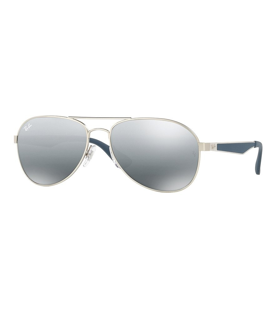 Ray-Ban Active Mirrored Gradient Aviator Sunglasses