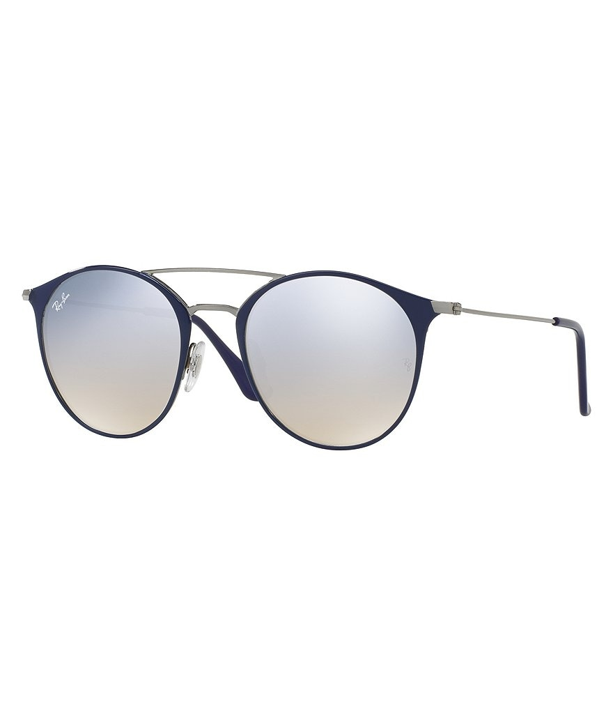 Ray-Ban Highstreet Round Flash Mirror Sunglasses