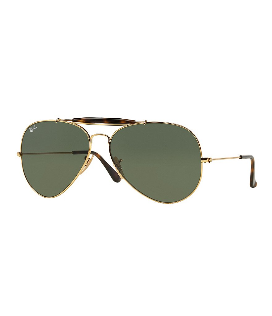 Ray-Ban Icon Outdoorsman II Double Bridge Aviator Sunglasses