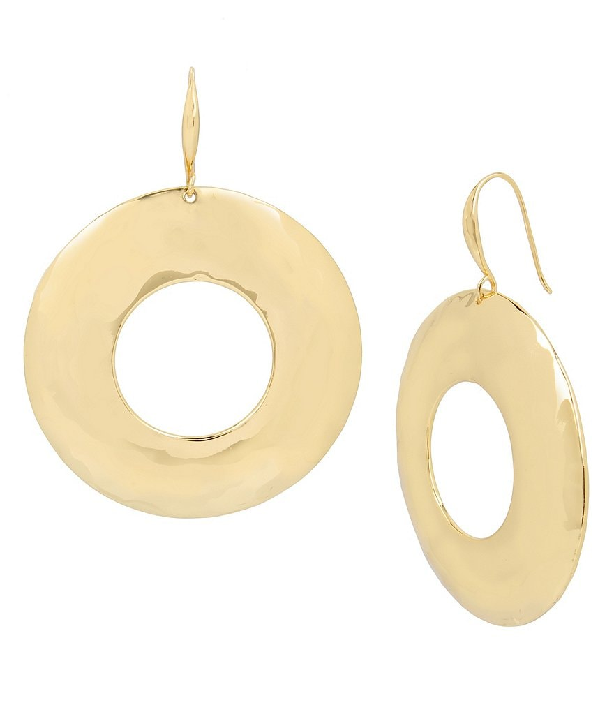 Robert Lee Morris Soho Hammered Drop Hoop Earrings