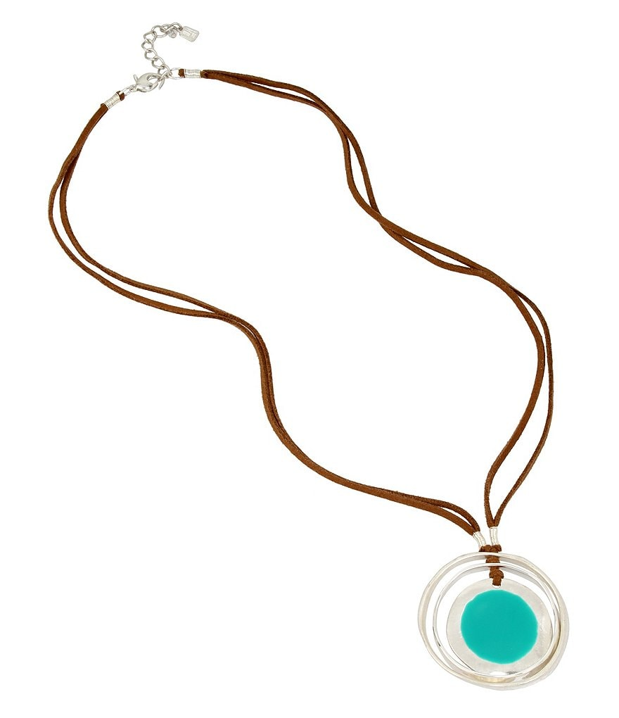 Robert Lee Morris Soho Leather Pendant Necklace