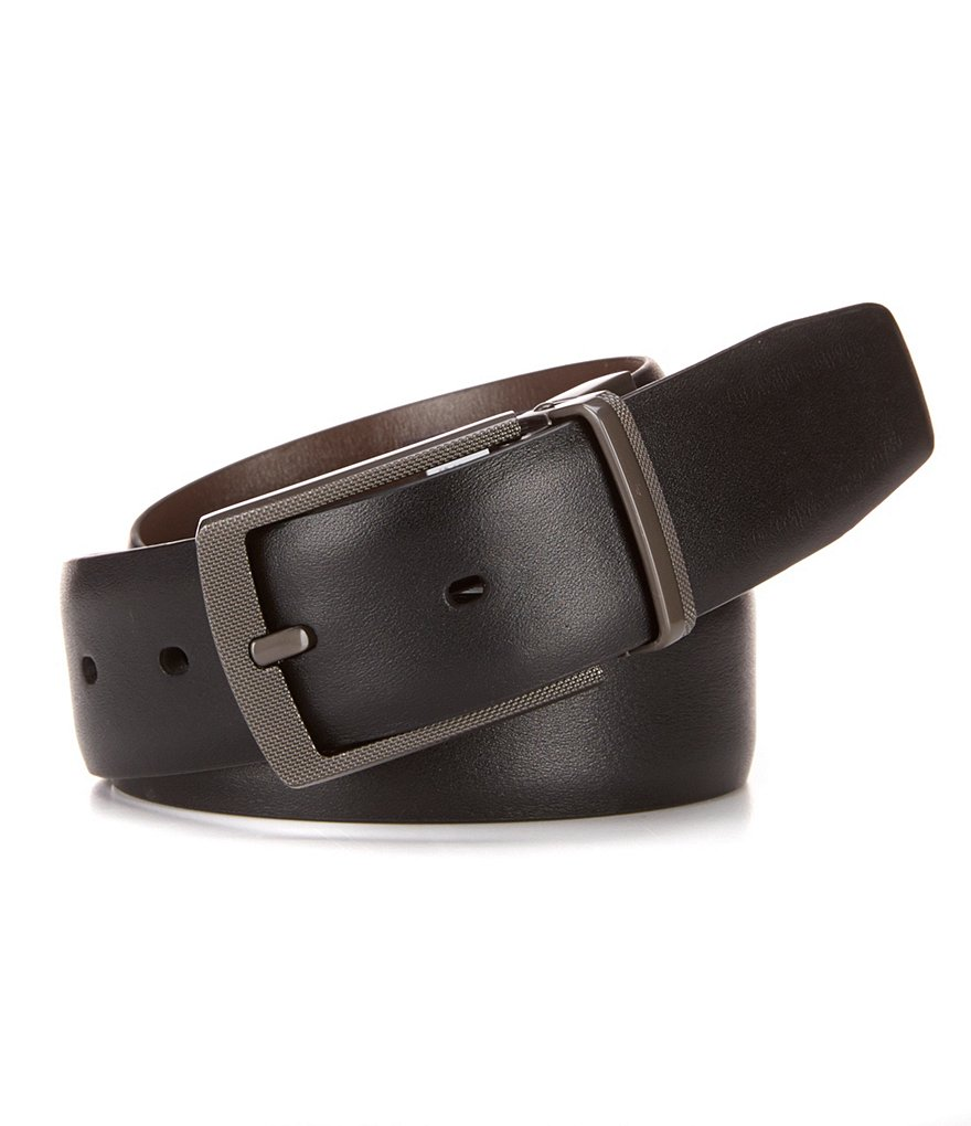 Roundtree & Yorke Reversible Montana Leather Belt