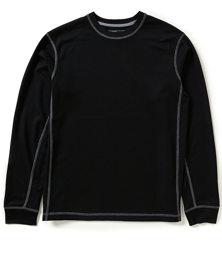 Roundtree & Yorke Performance Big and Tall Long Sleeve Waffle Crew