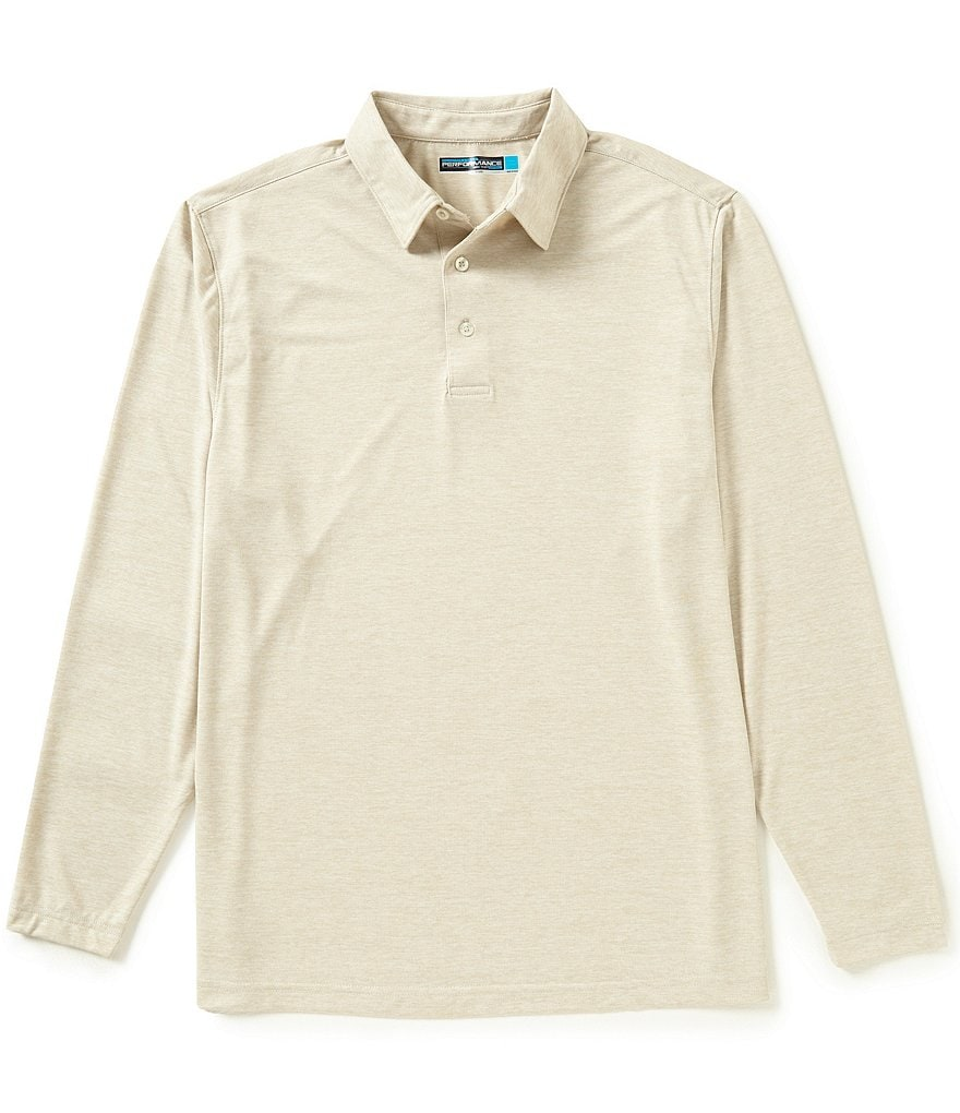Roundtree & Yorke Performance Long Sleeve Solid Polo