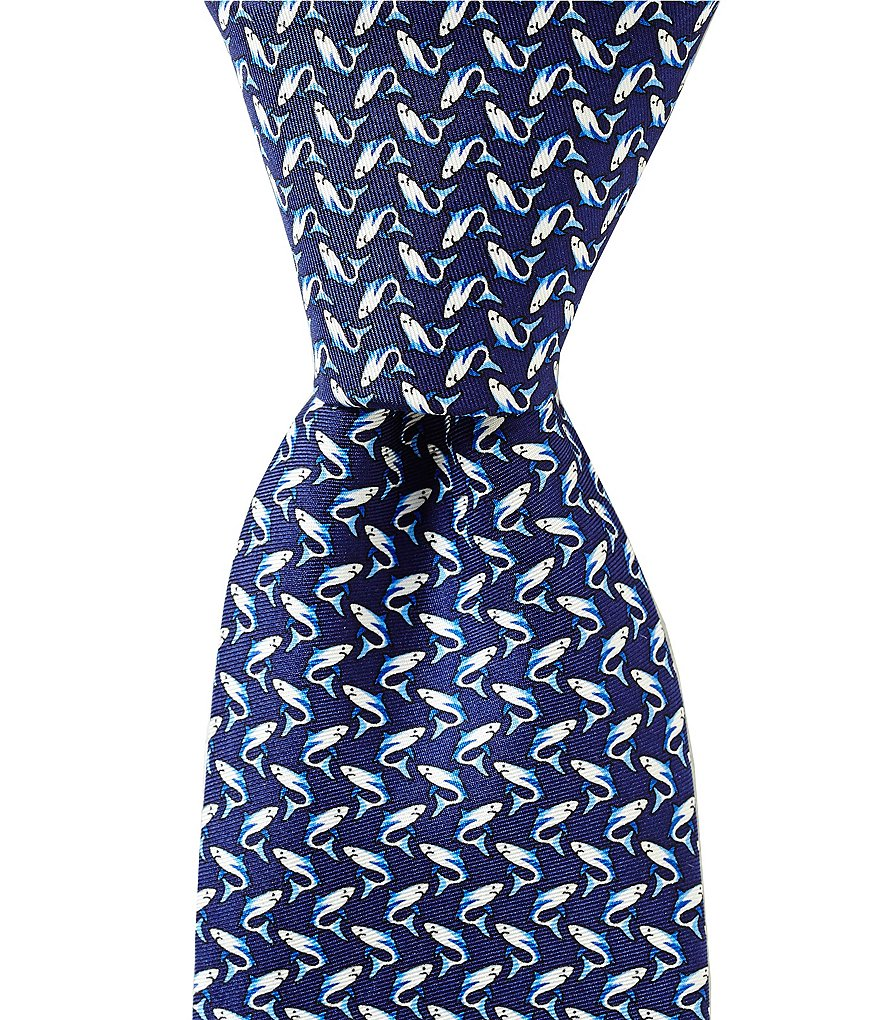 Roundtree & Yorke Sharks Traditional Silk Tie