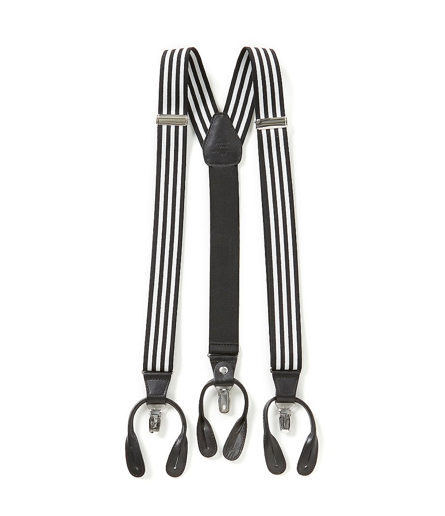 Roundtree & Yorke Striped Suspenders