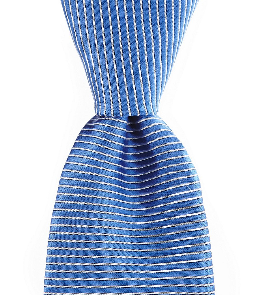 Roundtree & Yorke Trademark Horizontal Stripe Traditional Silk Tie