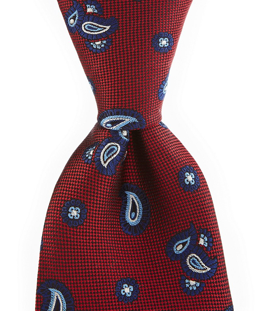 Roundtree & Yorke Trademark Oxford Pines Traditional Silk Tie