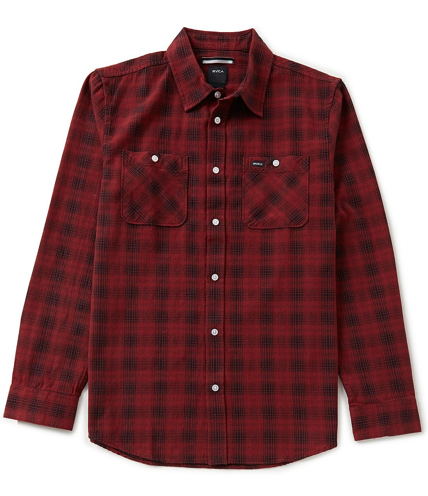 RVCA Trample Plaid Long-Sleeve Shirt