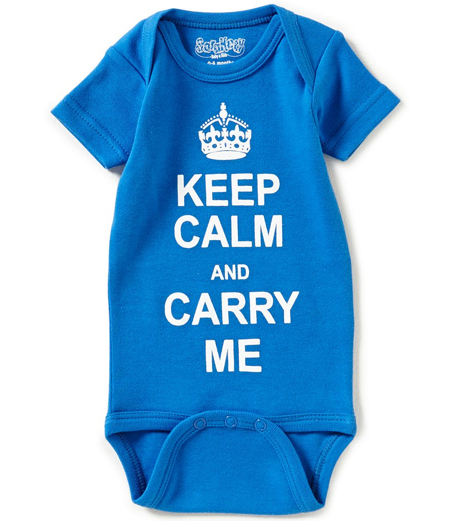 Sara Kety Baby Newborn-12 Months Keep Calm And Carry Me Short-Sleeve Bodysuit
