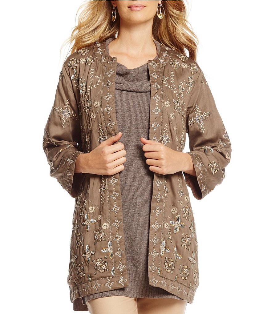 Sigrid Olsen Signature Embellished Topper Jacket