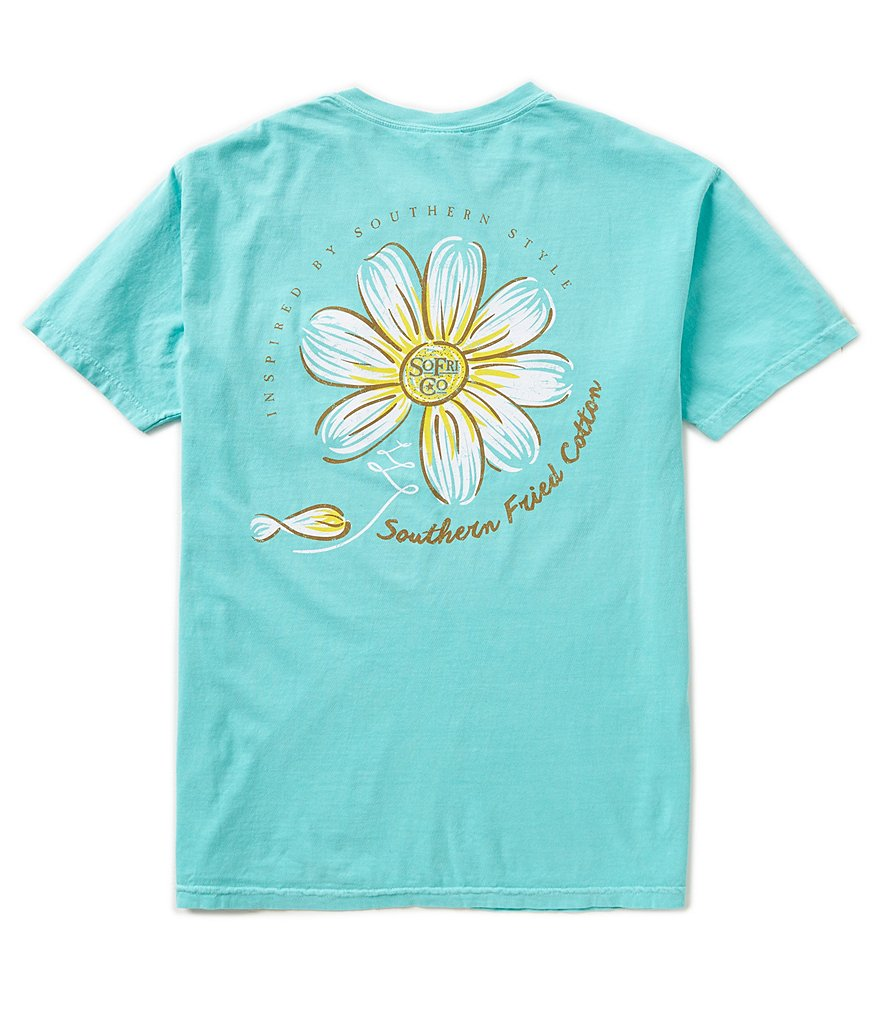 Southern Fried Cotton Mens Loves Me Graphic Pocket Tee