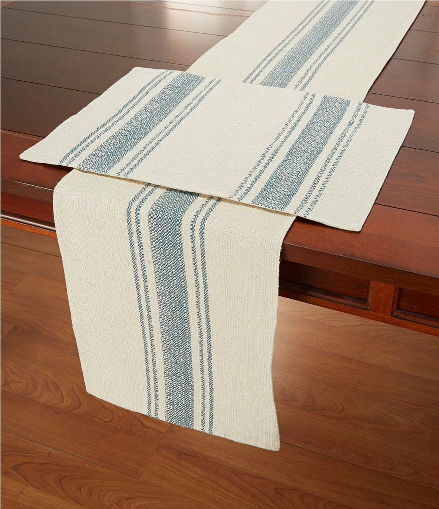 Southern Living Dobby Stripe Cotton Table Linens