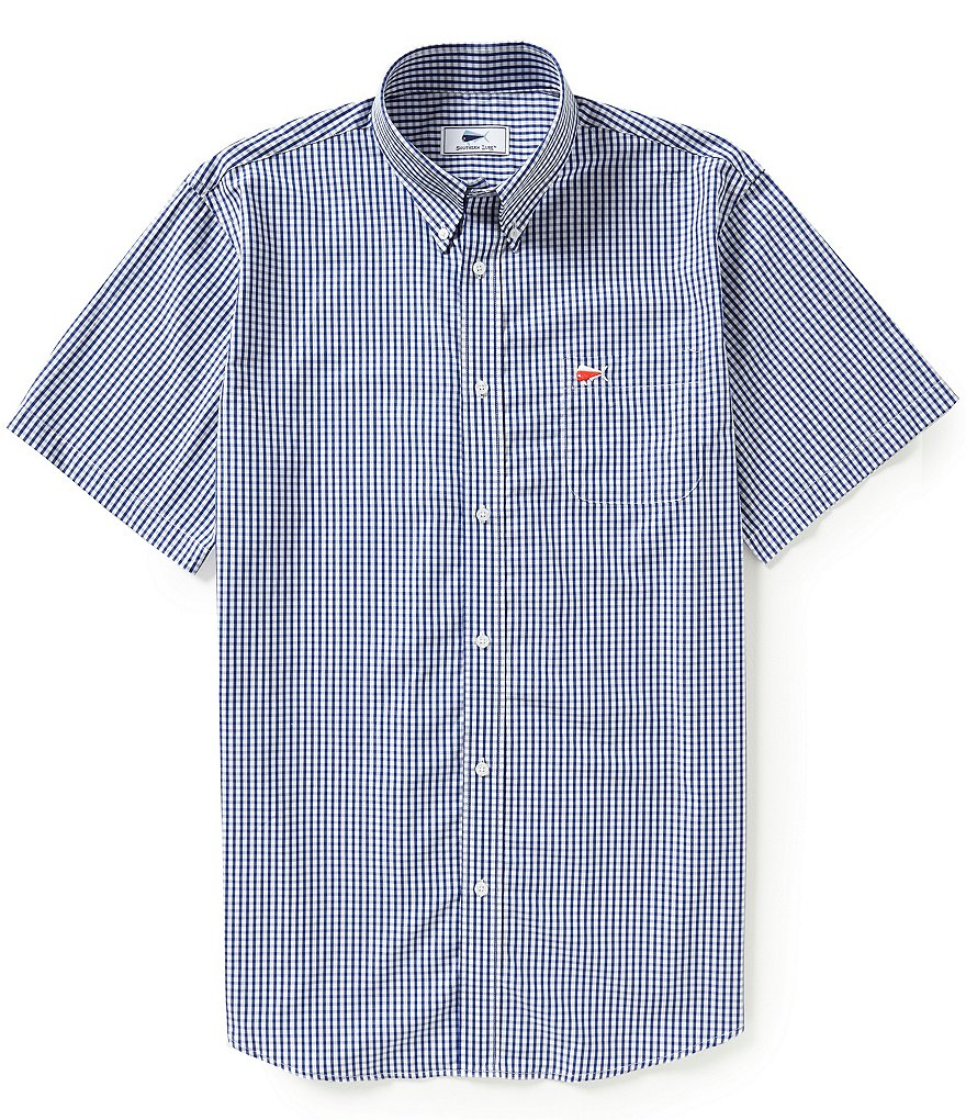 Southern Lure Checked Short-Sleeve Sportshirt