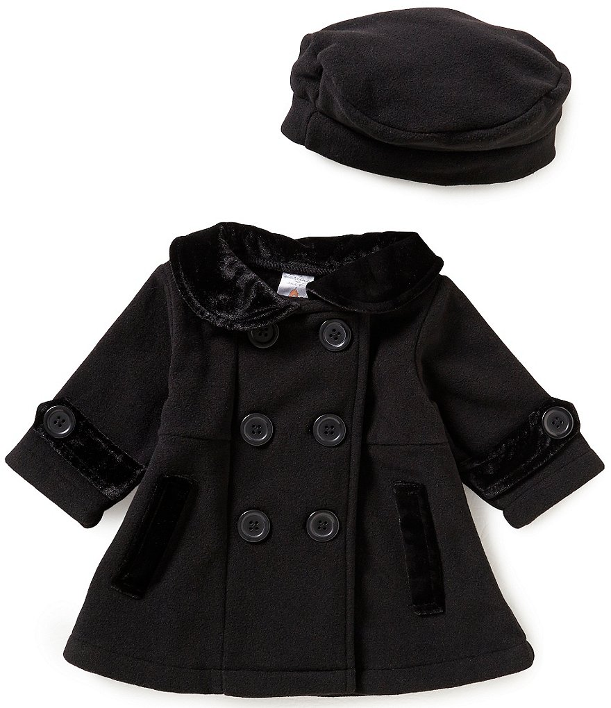 Starting Out Baby Girls 3-24 Months Peacoat and Matching Hat