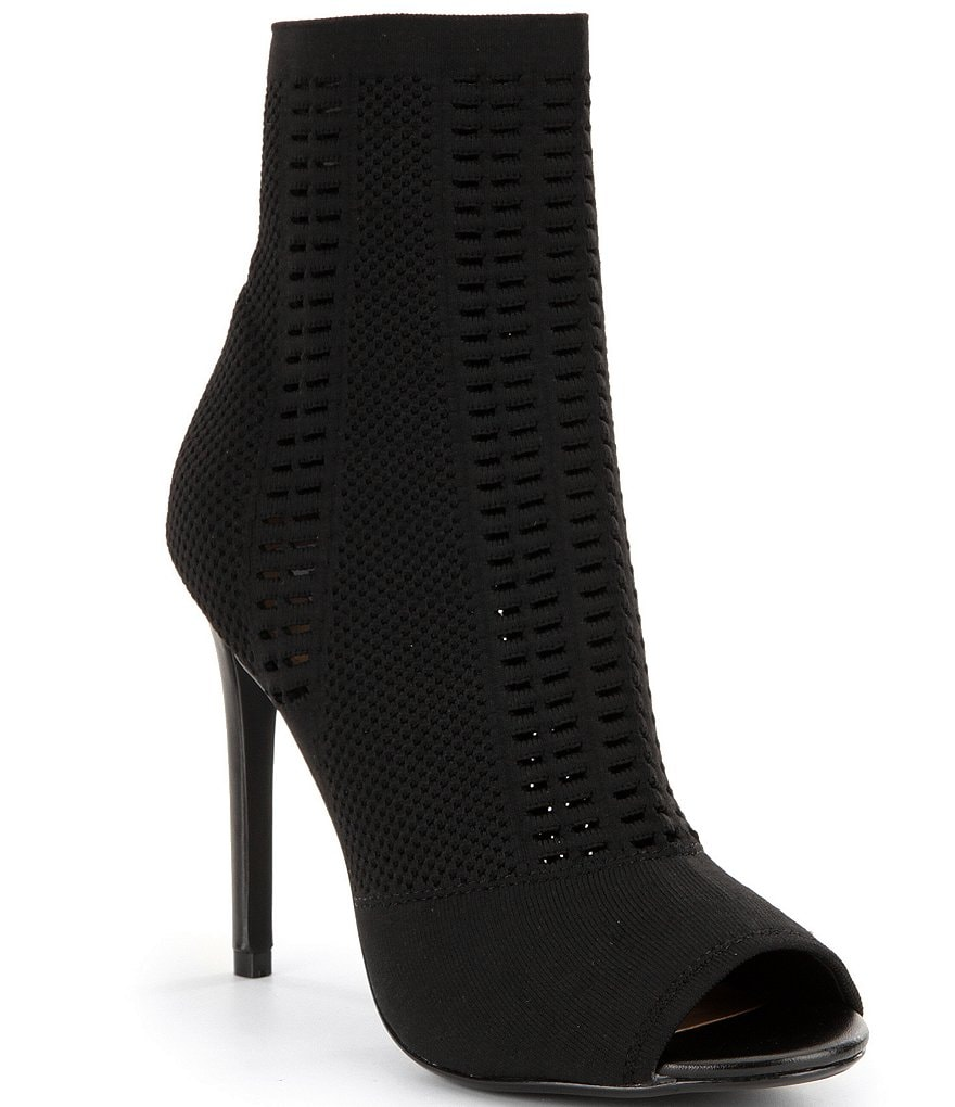 Steve Madden Candid Knit Peep Toe Booties