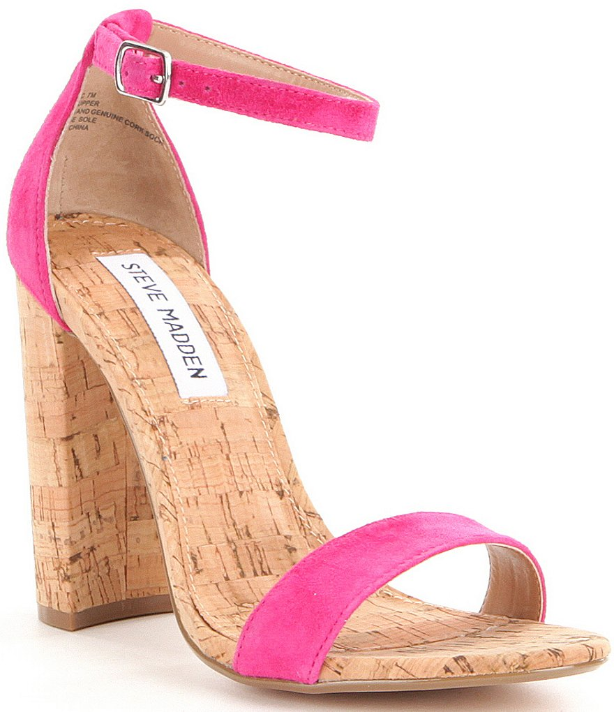 Steve Madden Carson Ankle Strap Cork Dress Sandals
