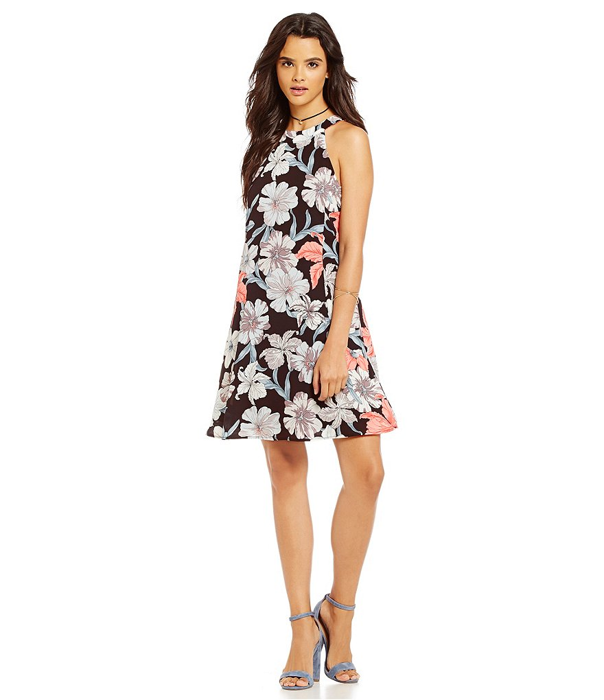 Sugarlips Floral Trapeze Dress