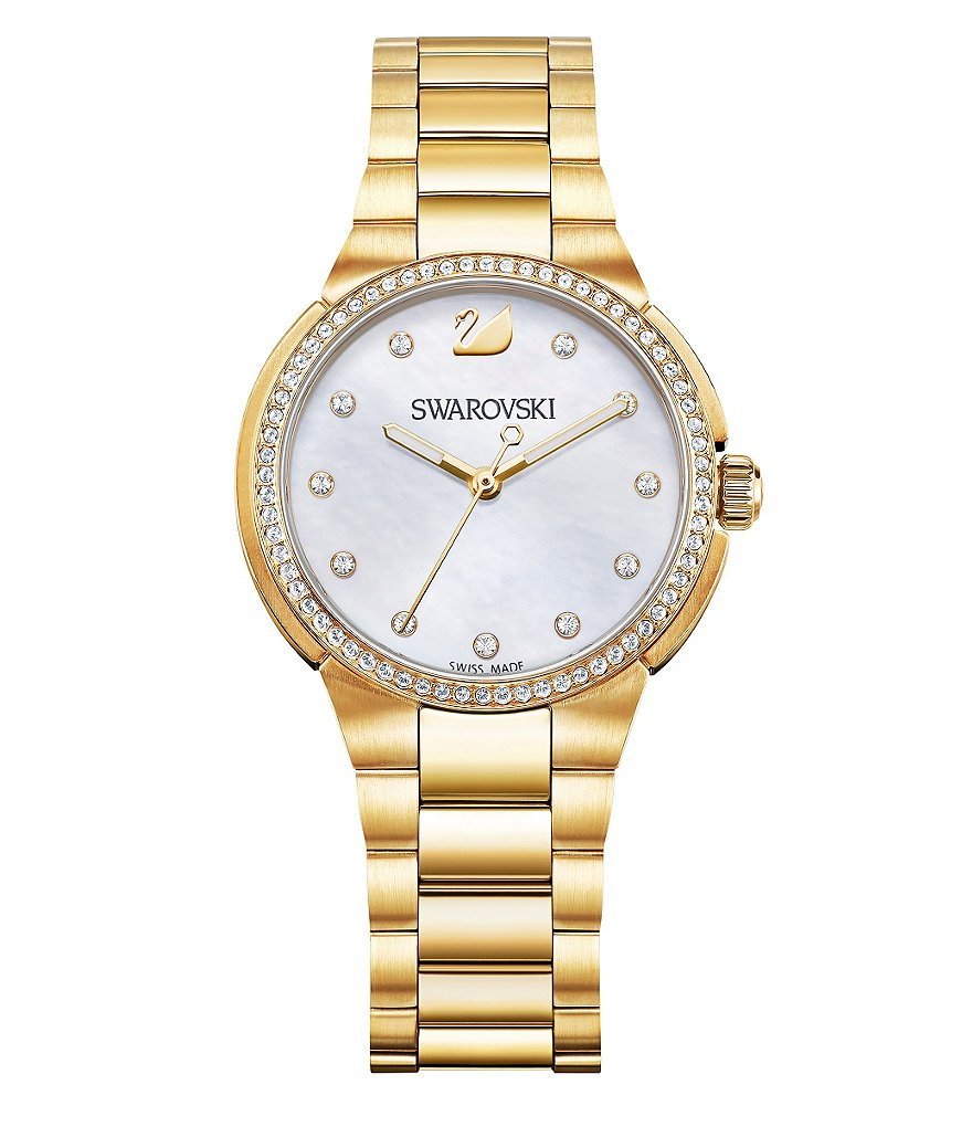 Swarovski City Mini Mother-of-Pearl Dial Bracelet Watch