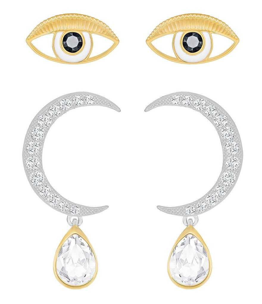 Swarovski Moon & Eye Earring Set