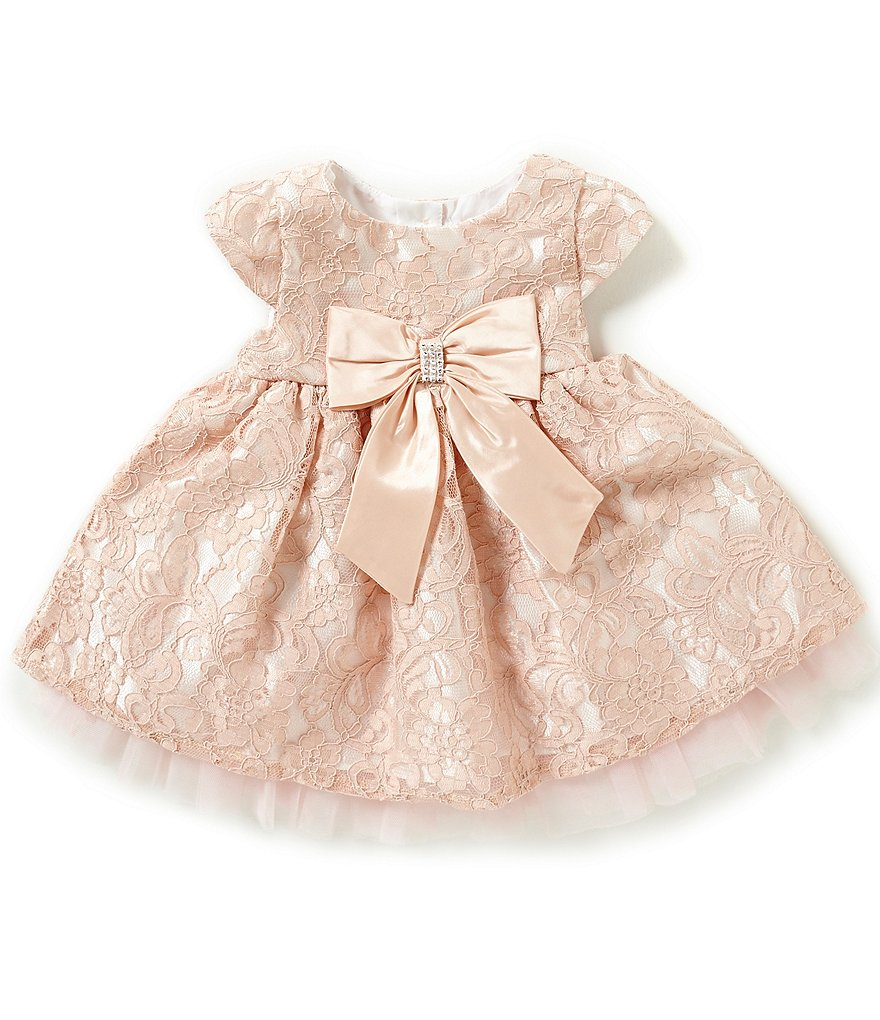 Sweet Heart Rose Baby Girls 12-24 Months Bow-Accented Lace Dress