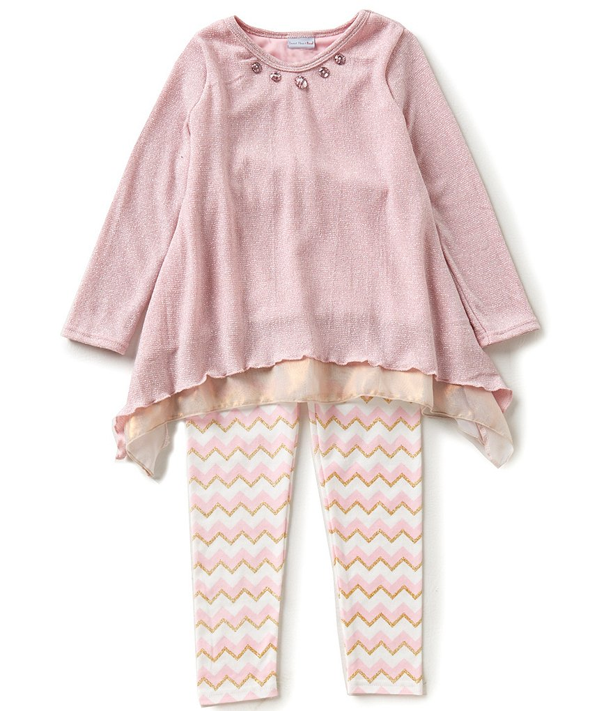 Sweet Heart Rose Little Girls 4-6X Asymmetrical Tunic & Leggings Set