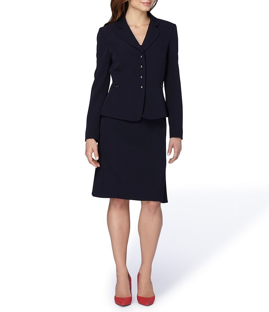 Tahari ASL Crepe 2-Piece Skirt Suit