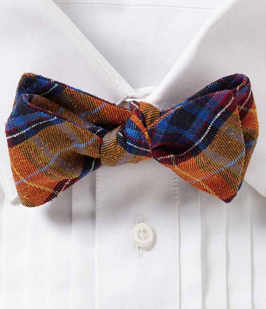 Ted Baker London Edinburgh Plaid Silk Bow Tie