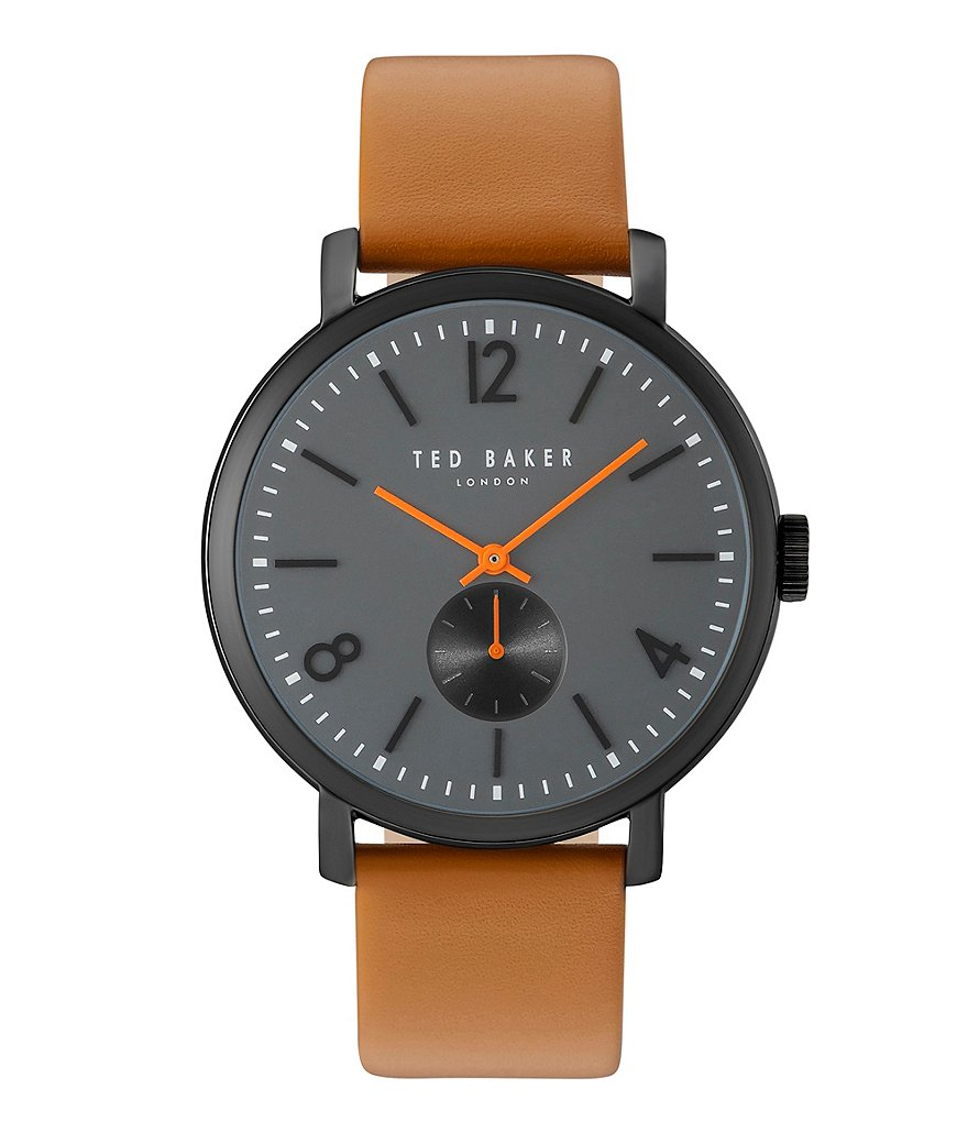 Ted Baker London Oliver Analog Leather-Strap Watch